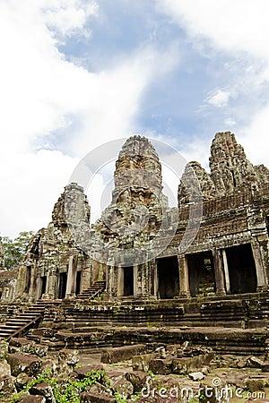 Free Bayon  Temple. Angkor, Siem Reap, Cambodia. Stock Images - 24360384