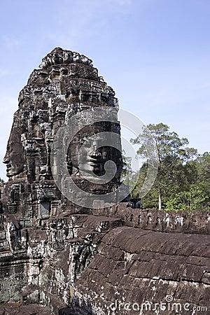 Bayon temple, Angkor wat, Cambodia