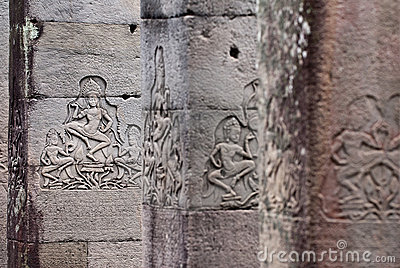 Bayon Temple Apsara Carving