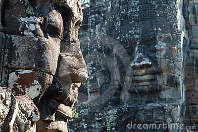 Bayon temple tower faces 2