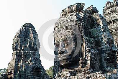 Bayon temple tower faces 3