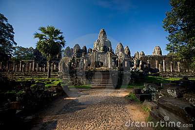 Bayon Temple Wide Entrance Path