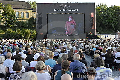 Bayreuth Festival, Outdoor Screening of Wagner Editorial Image