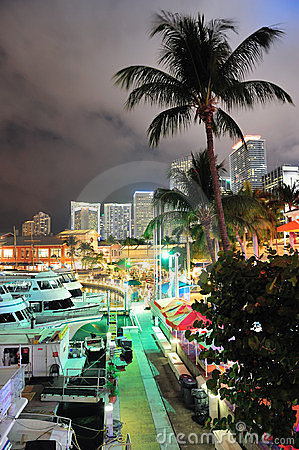 Bayside Marketplace Miami Editorial Stock Photo