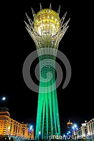 Bayterek monument in Astana, Kazakhstan