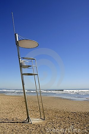 Free Baywatch High Chair Sand Beach In Valencia Royalty Free Stock Photos - 15247258