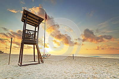 Baywatch No Mar Do Cararibe Fotografia de Stock Royalty Free - Imagem: 26990297