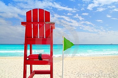 Baywatch red seat tropical caribbean