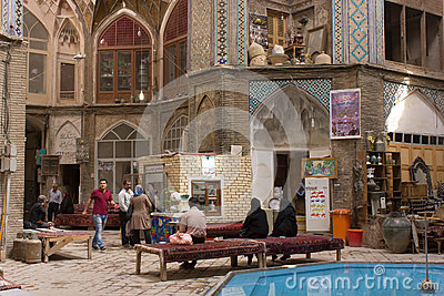 Bazaar of Kashan, Central Iran Editorial Image