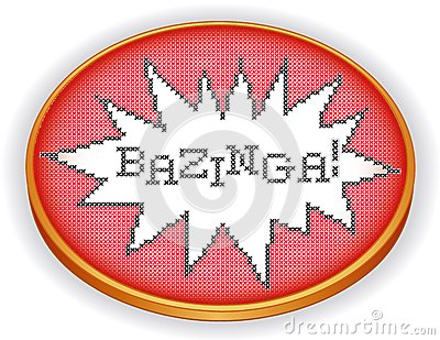 Bazinga Cross Stitch Embroidery, Wood Sewing Hoop