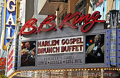 BB King Blues Club & Grill 42nd Street, New York Editorial Stock Photo