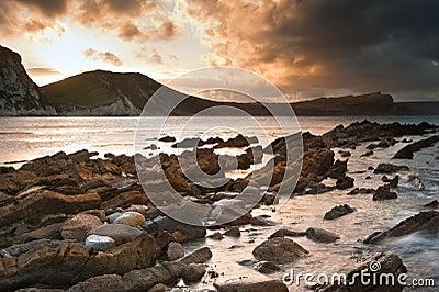 Bbeautiful Sunrise ocean landscape