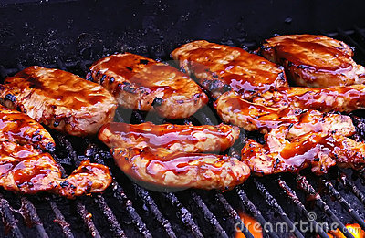 BBQ Chicken on Grill