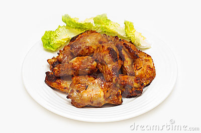Bbq chicken wings on a plate