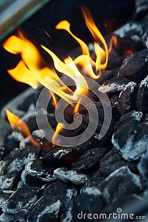 BBQ Coals on Fire