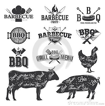 Free BBQ Emblems And Logos Stock Photo - 59564000