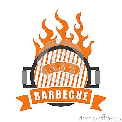 Bbq en slachterijthema vector illustratie afbeelding 62772466 - Barbecue ontwerp ...
