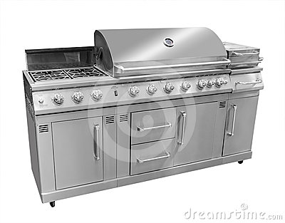 Bbq gas grill, isolated