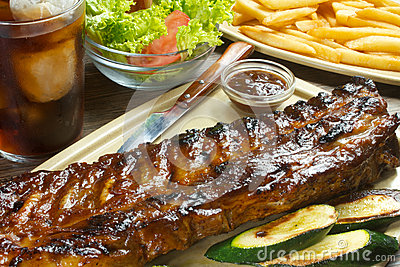 Bbq grilled ribs
