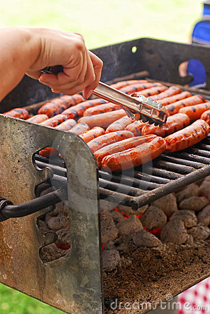 Free BBQ Hot Dogs Royalty Free Stock Images - 15279769