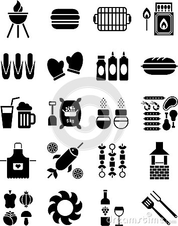 Free BBQ Icons Stock Image - 26812621