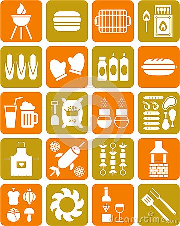 Free BBQ Icons Stock Photography - 26812682