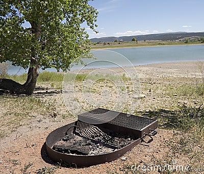 BBQ by lake
