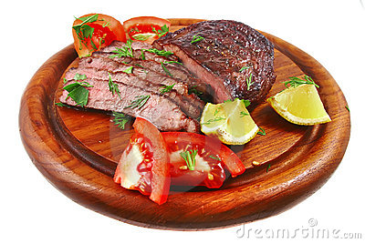 Bbq Meat On Wood Shelf Stock Photos - Image: 8806663