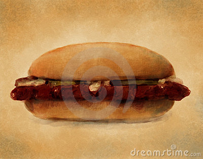 BBQ Pork Sandwich - Digital Painting