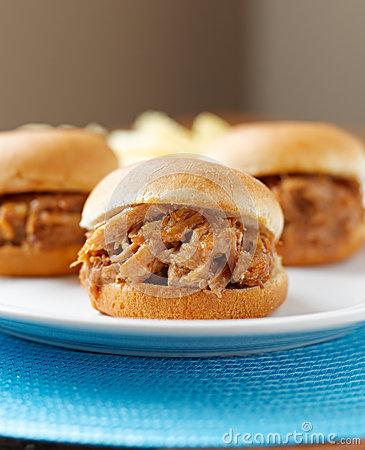 Free Bbq Pulled Pork Sandwiches Royalty Free Stock Photography - 26452657