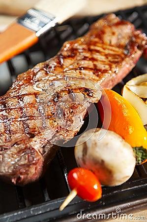 BBQ steak dinner - grill