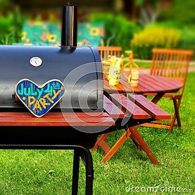 BBQ Summer Backyard Party Scene