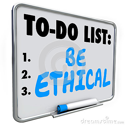Free Be Ethical To Do List Honesty Fairness Justice Truth Royalty Free Stock Photography - 59148197