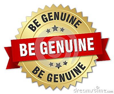 be genuine badge Vector Illustration
