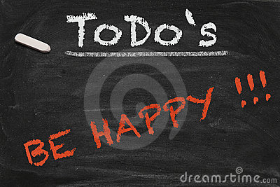 Be happy Chalkboard