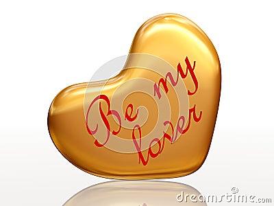 Be my lover in golden heart