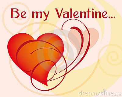 Be my valentine greetings card