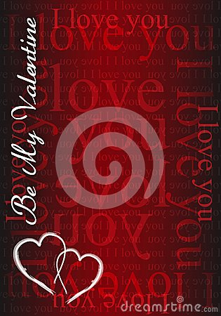 Be my Valentine - I love you card