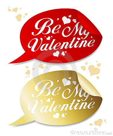Be My Valentine stickers.