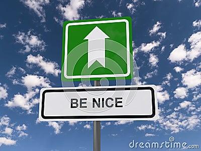 Be nice Stock Photo