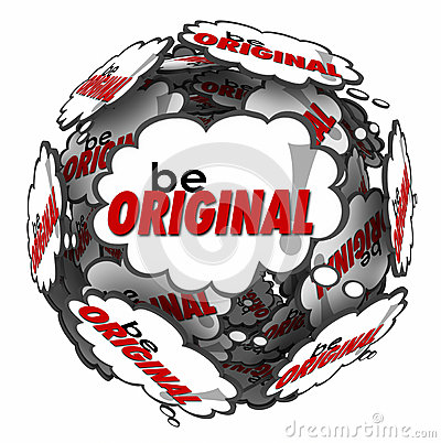Free Be Original Thought Clouds Creative Inventive Imaginative Thinki Stock Photography - 49815302