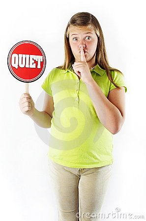 Be Quiet Royalty Free Stock Photo - Image: 20914235