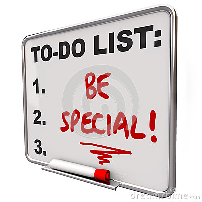 Be Special To Do List Dry Erase Board Unique Different Distincti