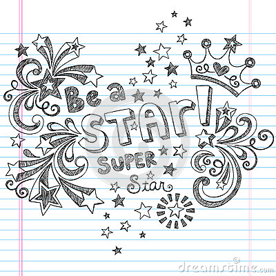 Be A Star Sketchy School Doodles Vector Design