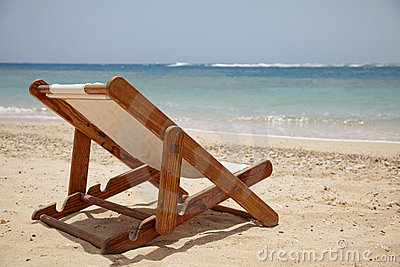 On beach