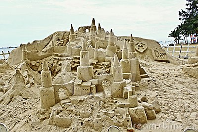 Large sandcastle