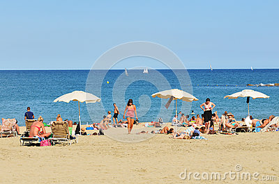 On the beach Editorial Stock Image