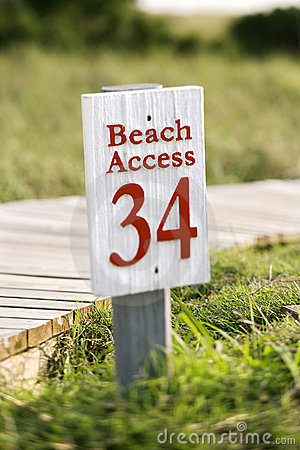 Beach access on Bald Head Island, North Carolina.