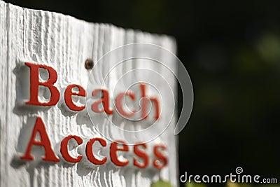 Beach access sign.