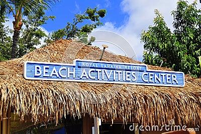 Beach Activities Center Editorial Stock Photo